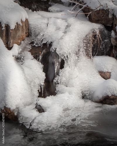 Deurstickers Bakkerij Icy Running Waterfall