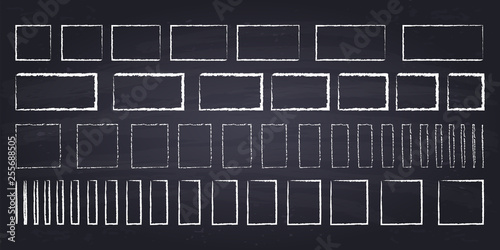 Foto Chalk drawn squares and rectangles