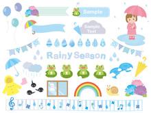 かわいい梅雨のイラスト素材