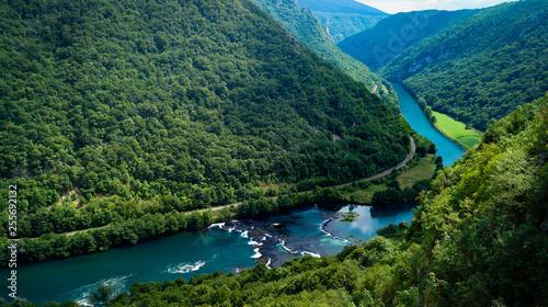 Cadres-photo bureau Rivière de la forêt View on una river at Lohovo. Una National Park, Bosnia