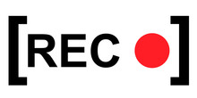 Recording Sign, Red Panel, Rec...