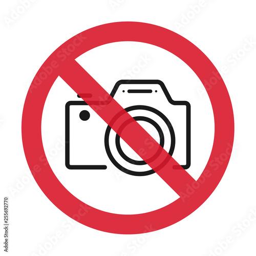 Pinturas sobre lienzo  No cameras allowed sign