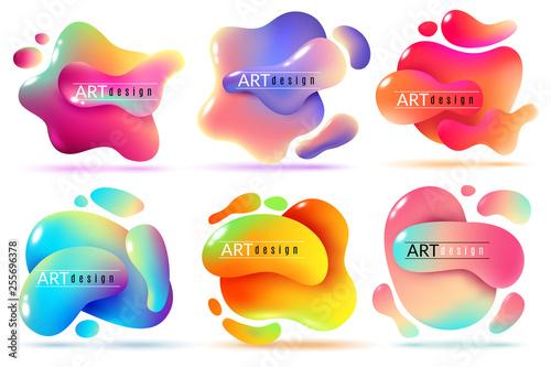 Fluid Shape Banners Liquid Shapes Abstract Color Flux