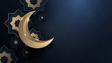 Ramadan Kareem. Gold Moon And ...