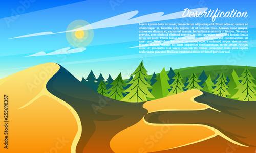 Fotografia Desertification Forests