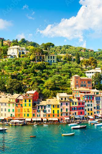 Photo sur Aluminium Ligurie Beautiful sea coast in Portofino, Italy