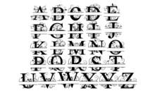 Split Monogram Letter
