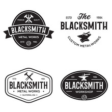 Blacksmith Labels Set. Design ...
