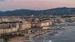 Terrazza Mascagni and Livorno Cityscape - Aerial View in 5K