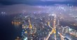 Hong Kong city at night, timelapse