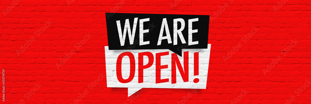 Fototapety, obrazy: We are open !