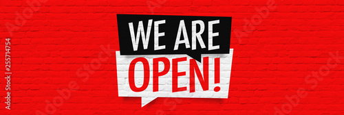 Fotografía We are open !
