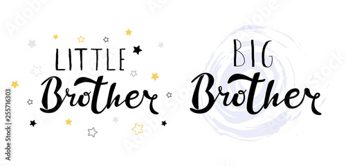 Photographie Little big brother. Lettering for babies clothes