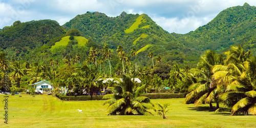 View of the mountain landscape, Rarotonga, Aitutaki, Cook Islands Tapéta, Fotótapéta