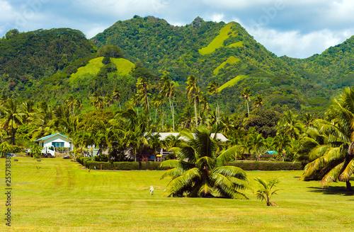 Fényképezés View of the mountain landscape, Rarotonga, Aitutaki, Cook Islands