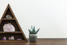 Triangular Crystal Shelf On A ...