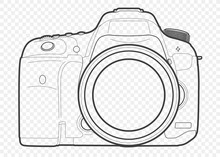 Outline Vector Illustration Of...