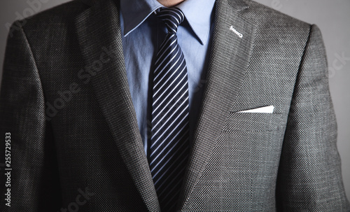 Fotografia  Businessman in blue shirt and jacket.