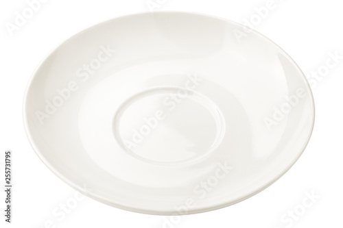 Fotografía  Empty plate, isolated on white background, clipping path, full depth of field