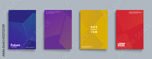 Fotografía  Minimal annual report design vector collection