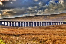 Yorkshire Dales Ribblehead Viaduct Weather Cloudy