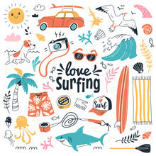 Love Surfing Collection. Vecto...