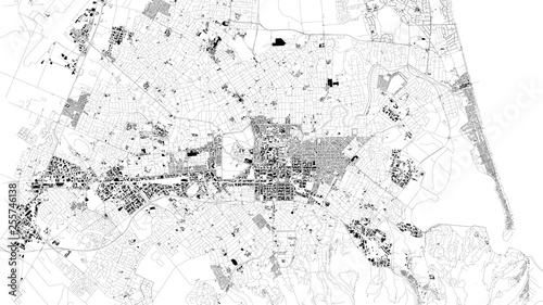 Obraz na plátně Satellite map of Christchurch is the largest city in the South Island of New Zealand and the seat of the Canterbury Region