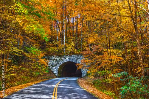 Blue Ridge Parkway near Asheville North Carolina Fototapeta