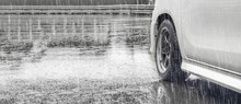 Heavy Rain And Puddles On The ...