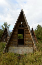 """Abandoned Tourist Complex """"Eldorado"""" At The Mouth Of The River Inya Altai Territory"""