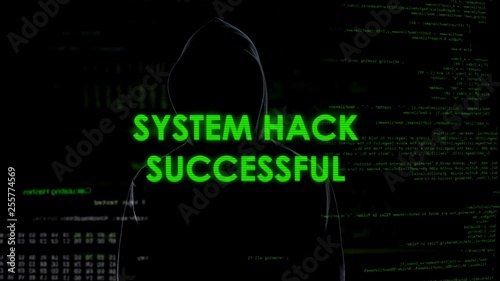 System hack successful, code breaking operation, programmer