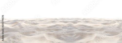 Sand beach texture isolated on white background Canvas Print