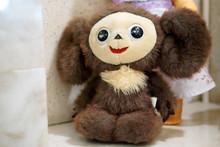 Old Toy - Plush Cheburashka. Vintage Russian Artifact