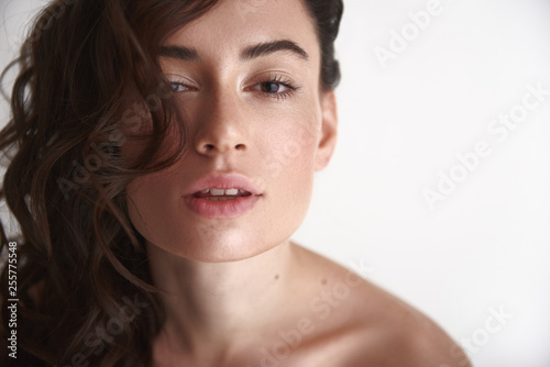 Fotografie, Obraz  Portrait of young sensual pretty brunette woman