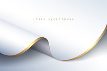 White And Gold Textile Background