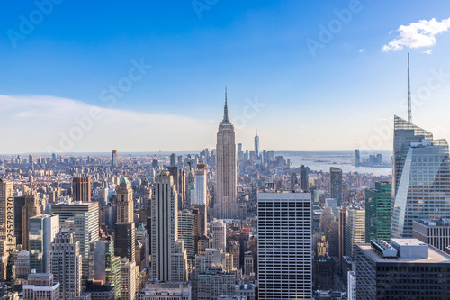 New York City Skyline in Manhattan downtown with Empire State Building and skysc Fototapeta