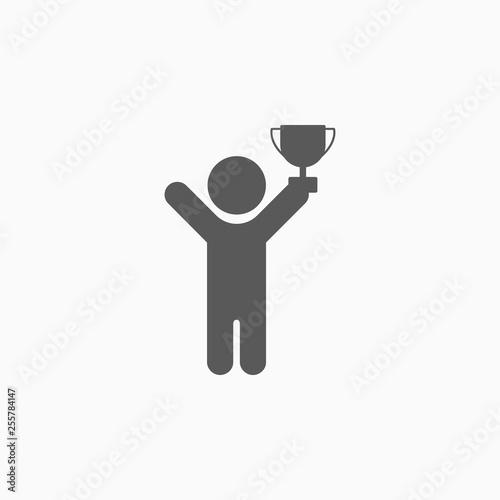 Canvastavla winner icon, trophy vector