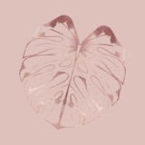 Leaf. Rose gold. Hand drawing. Vector illustration - 255784725