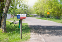 Texas Flag Painted On The Mailbox