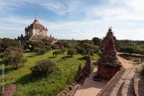 Photo  Detail of ancient temples in Bagan, Myanmar (Burma)