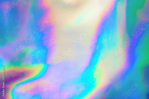 Fotografia  Abstract Modern pastel colored holographic background in 80s style