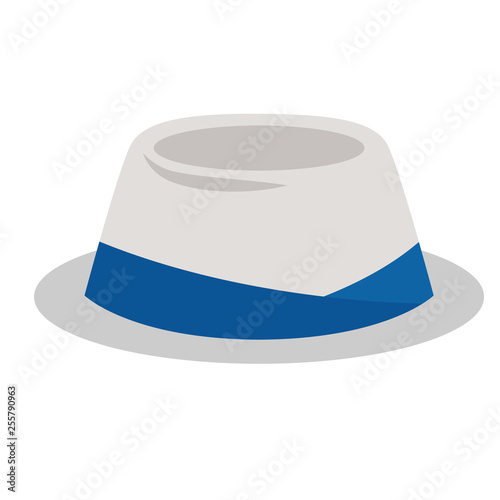 summer hat flat illustration Canvas Print