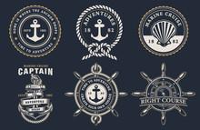 Set Of Marine Badges
