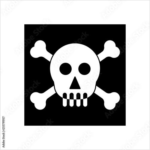 Photo  Skull And Crossbones Icon, Skull, Cross Bones
