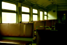 Old Empty Wagon Of The Regional Train At The Kiev Station