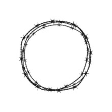 Barbed Wire Circle. Vector Ill...