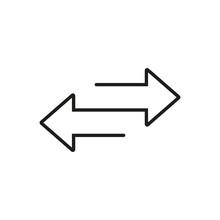 Two Arrows. Transfer Sign. Line Design. Vector Illustration.