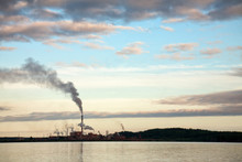 Smoking Pipes Of Pulp-and-paper Mill In Russia