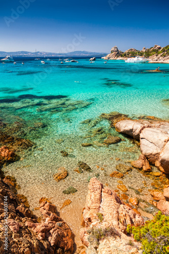 Clear turquoise water of Cala Corsara in Sardinia Italy Wallpaper Mural