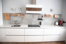 Perfect White Kitchen With A G...